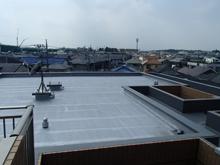 屋上アスファルト防水施工後